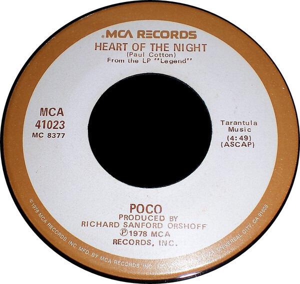 Poco Heart Of The Night / The Last Goodbye (GLOVERSVILLE PRESSING)