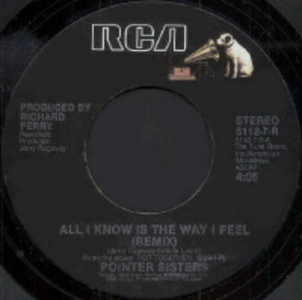 Pointer Sisters All I Know Is The Way I Feel