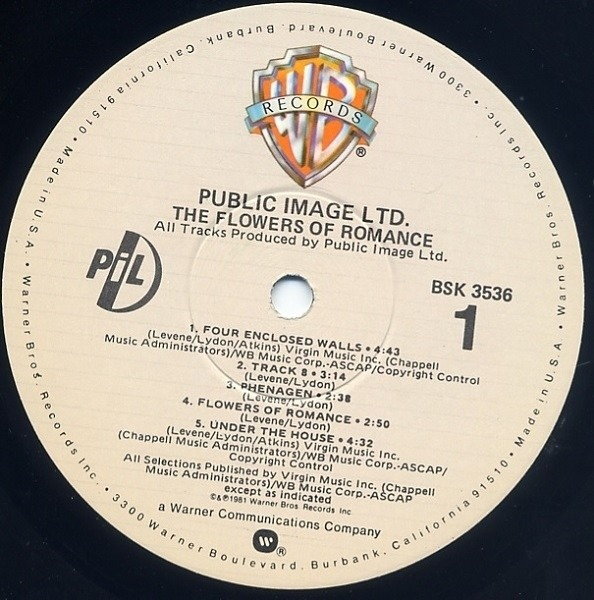 Public Image Limited The Flowers Of Romance