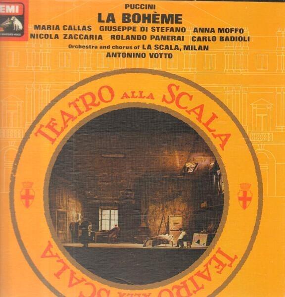 #<Artist:0x00007fcea696e138> - La Boheme,, La Scala, Votto, Callas, Di Stefano, Moffo, Zaccaria, Panerai, Badioli