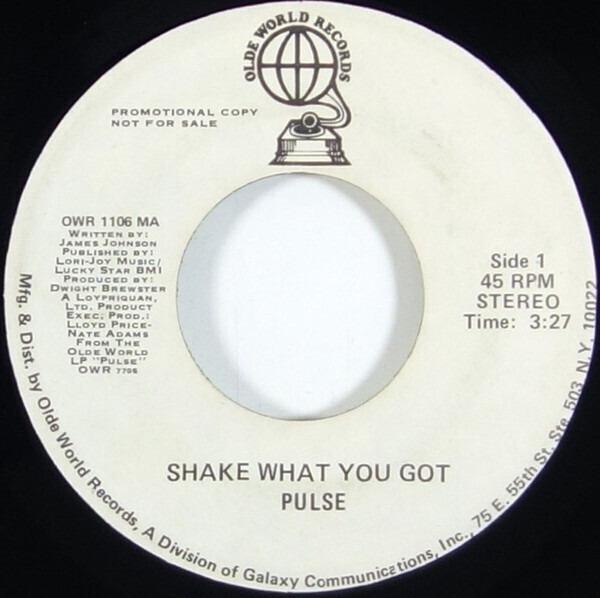 #<Artist:0x007f1f33f37948> - Shake What You Got