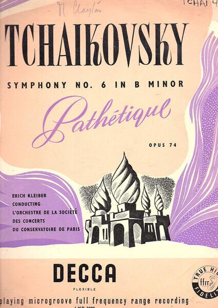 "#<Artist:0x00007f4e0fc31220> - Symphony No. 6 In B Minor ""Pathetique"" Opus 74"