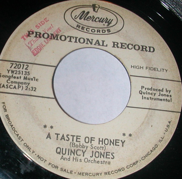 Quincy Jones And His Orchestra A Taste Of Honey/ Shagnasty