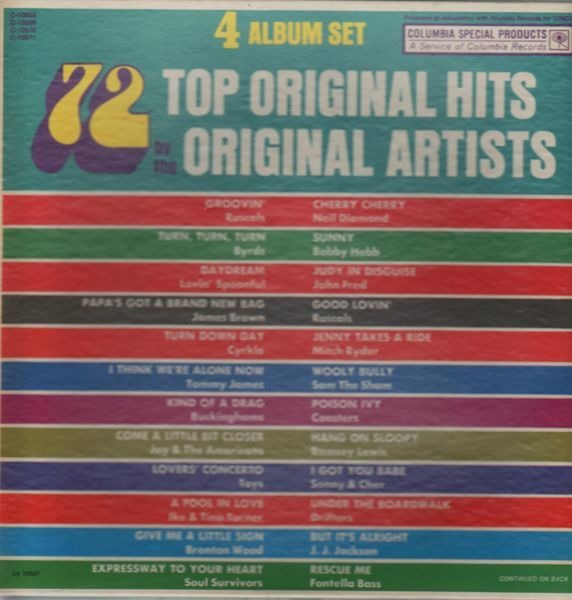 Rascals, Byrds, James Brown... 72 Top Original Hits