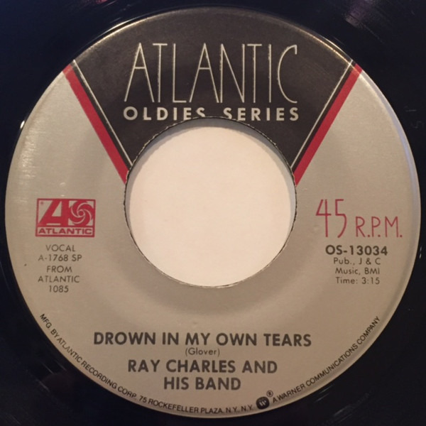 RAY CHARLES AND HIS BAND / RAY CHARLES - Drown In My Own Tears / Hallelujah I Love Her So - 7inch x 1