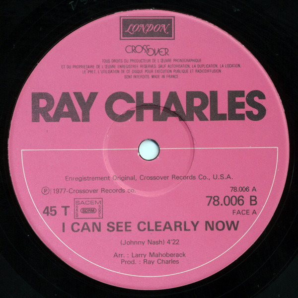 RAY CHARLES - I Can See Clearly Now - Maxi x 1
