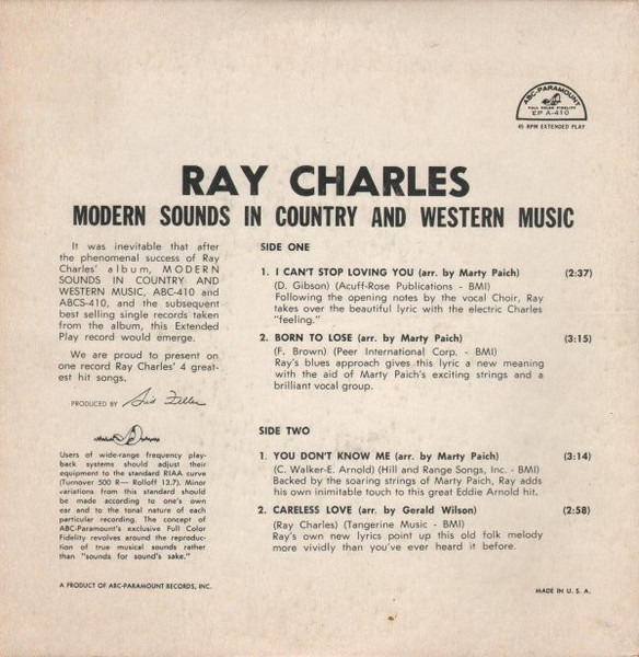 #<Artist:0x00007ff24a672f20> - Modern Sounds in Country and Western Music