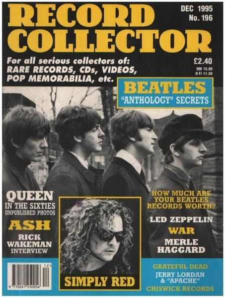 RECORD COLLECTOR - RECORD COLLECTOR MAGAZINE - Issue 196 December 1995 - Magazine