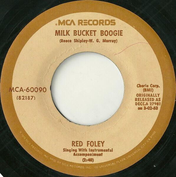 #<Artist:0x007f2781fe7ef0> - Milk Bucket Boogie / Salty Dog Rag