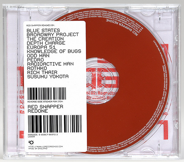 RED SNAPPER - Redone (FABRIC BACK INSERT) - CD