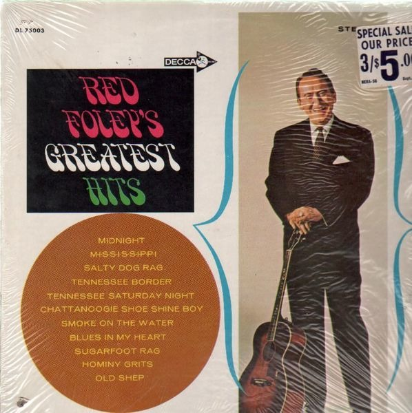 #<Artist:0x007fc3356e7008> - Red Foley's Greatest Hits
