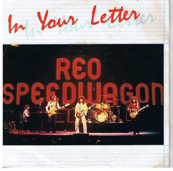 In your letter by Reo Speedwagon, 7inch x 1 with recordsale   Ref