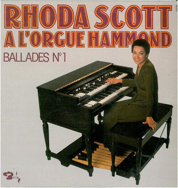 RHODA SCOTT - A L'Orgue Hammond - Ballades ? 1 - 33T