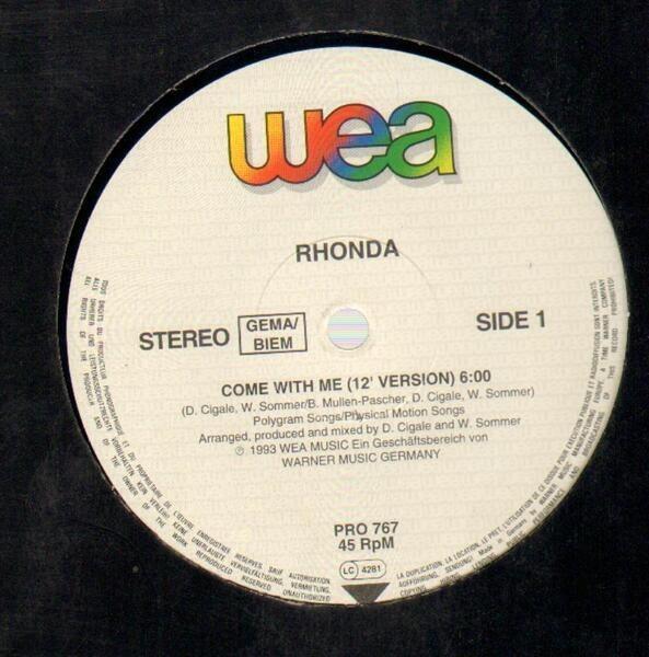RHONDA - Come With Me (PROMO) - 12 inch x 1