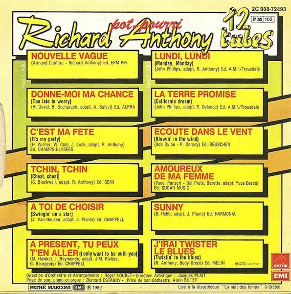 Richard Anthony 12 Tubes