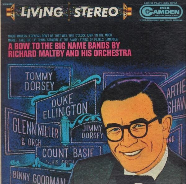 RICHARD MALTBY AND HIS ORCHESTRA - A Bow To The Big Name Bands - LP