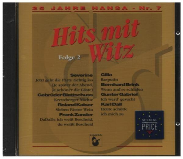#<Artist:0x00007fce8d5962b8> - 25 Jahre Hansa - Nr.7 - Hits Mit Witz Folge 2