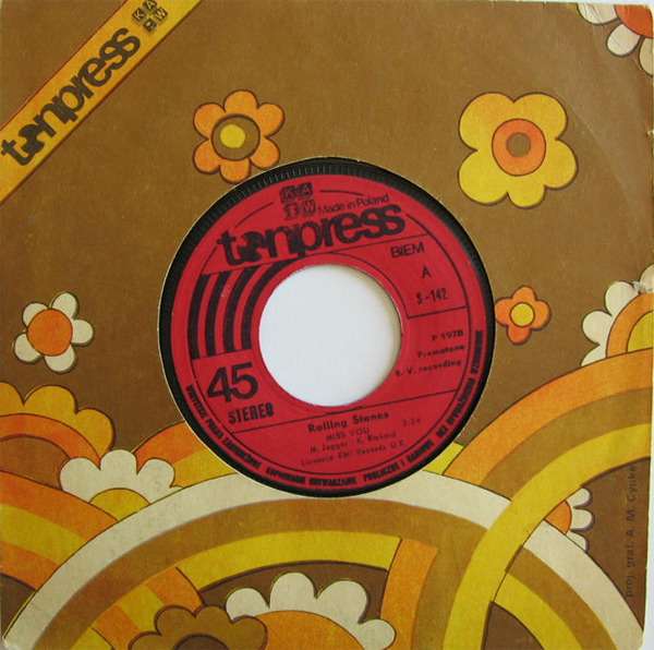 Rolling Stones - Miss You / Far Away Eyes (label Sleeve)