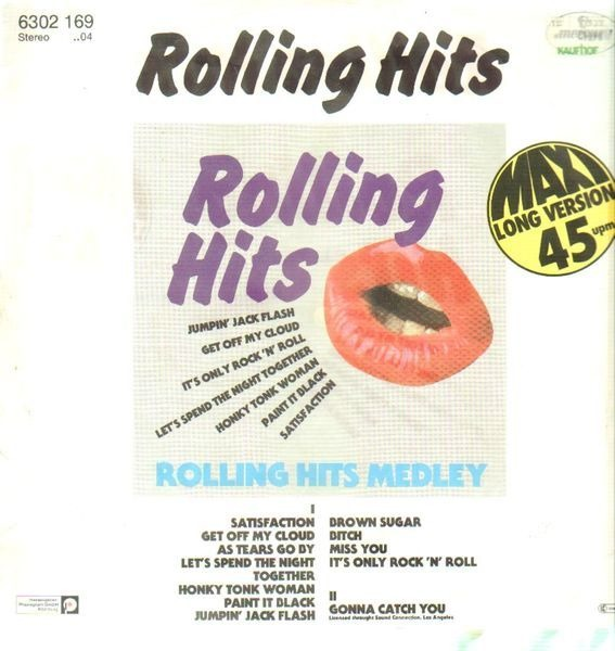 ROLLING HITS, THE ROLLING STONES - Rolling Hits Medley - 12 inch x 1