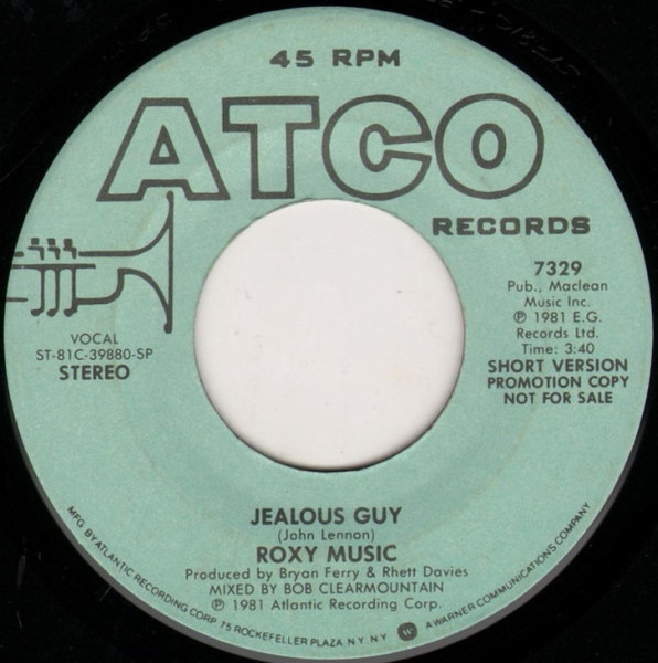 Roxy Music jealous guy