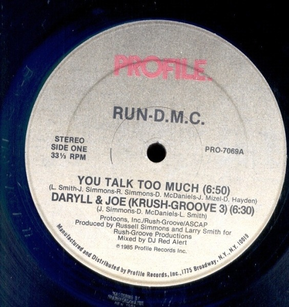 #<Artist:0x007f94b26cdd08> - You Talk Too Much / Daryll & Joe (Krush Groove 3)