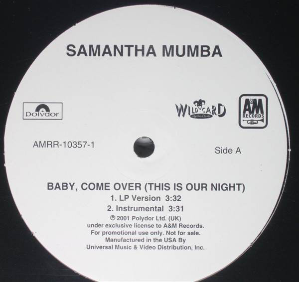 SAMANTHA MUMBA - Baby, Come Over (This Is Our Night) - 33T