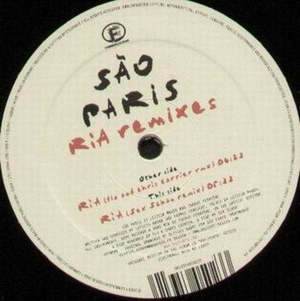 SAO PARIS - Ria Remixes - 12 inch x 1