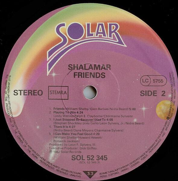 Shalamar Friends (GATEFOLD SLEEVE)