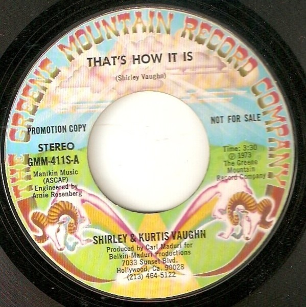 SHIRLEY & KURTIS VAUGHN - That's How It Is - 7inch x 1