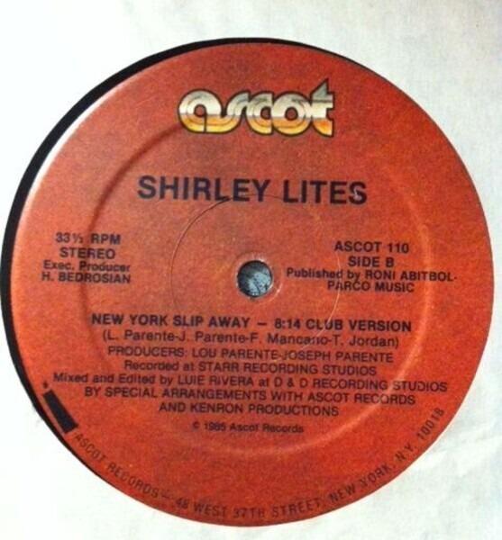 SHIRLEY LITES - New York Slip Away - Maxi x 1