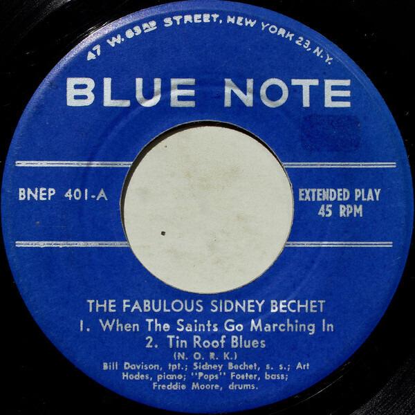SIDNEY BECHET, WILD BILL DAVISON, SIDNEY DE PARIS - The Fabulous Sidney Bechet (ORIGINAL US EP) - 45T x 1