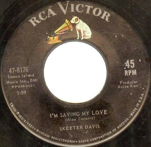 skeeter davis i'm saving my love / somebody else on your mind