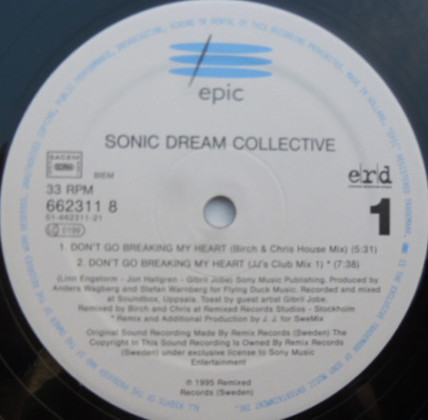 Sonic Dream Collective Don't Go Breaking My Heart