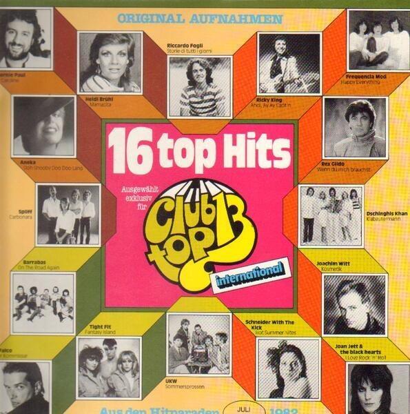 #<Artist:0x007fa7c08ef4a8> - 16 Top Hits - 1982