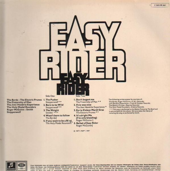 Steppenwolf, The Byrds, Jimi Hendrix Easy Rider