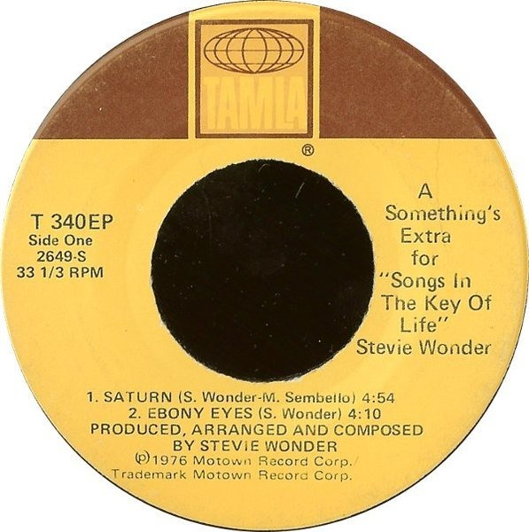 Stevie Wonder A Something's Extra For 'Songs In The Key Of Life' (7INCH ONLY)