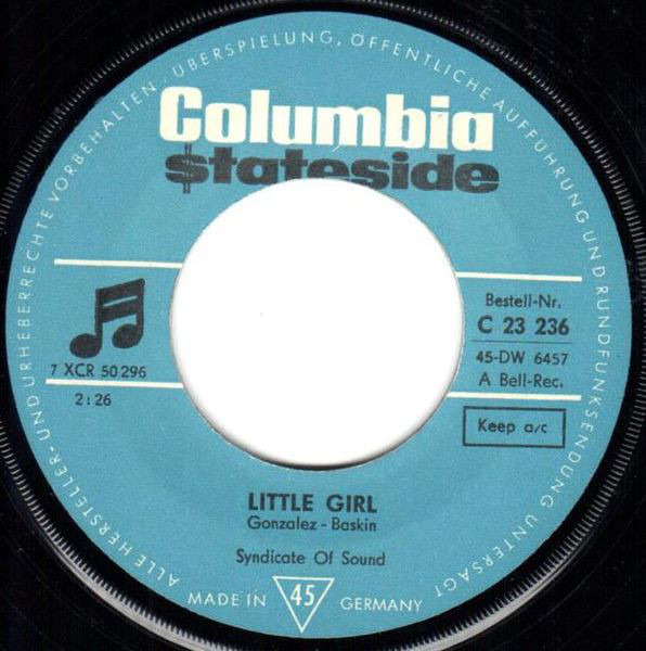 SYNDICATE OF SOUND - Little Girl - 45T x 1