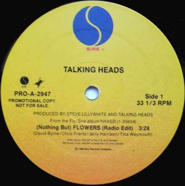Talking Heads (Nothing But) Flowers (PROMO)