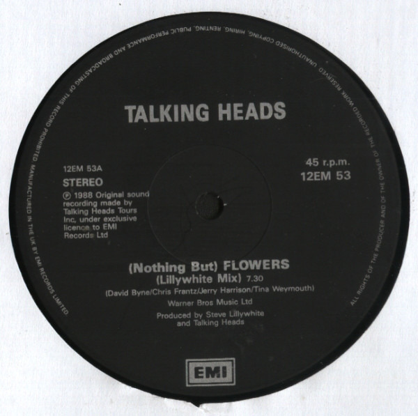 Talking Heads (Nothing But) Flowers