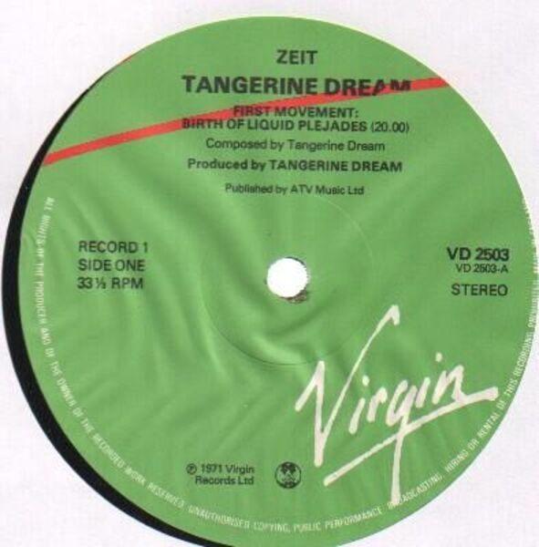 Tangerine Dream Zeit (GATEFOLD)