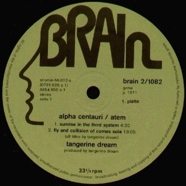Alpha Centauri Atem Green Brain By Tangerine Dream Lp X 2 With