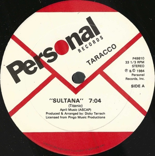 Sultana by Tarracco, 12 inch x 1 with recordsale