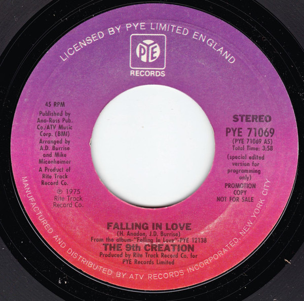 THE 9TH CREATION - Falling In Love - 7inch x 1