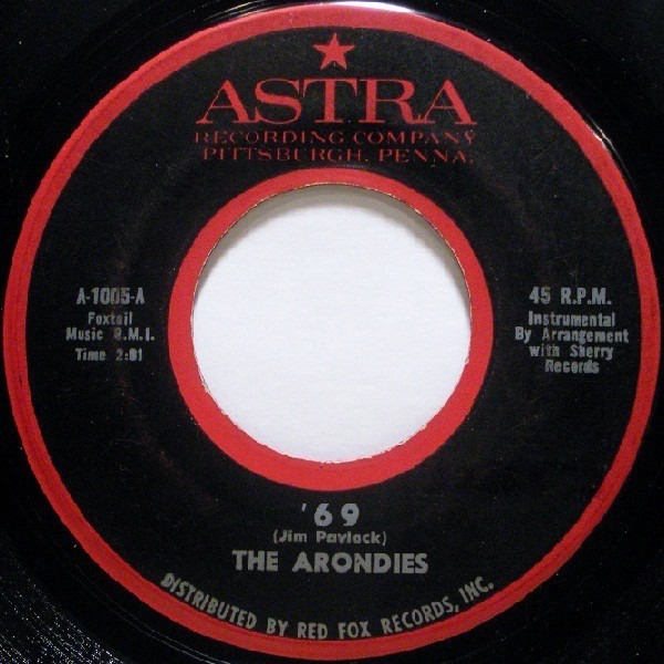 THE ARONDIES - '69 - 7inch x 1