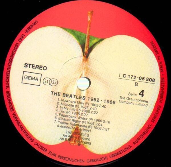 The Beatles 1962 - 1966, Red Album (SWEDISH PRESS)