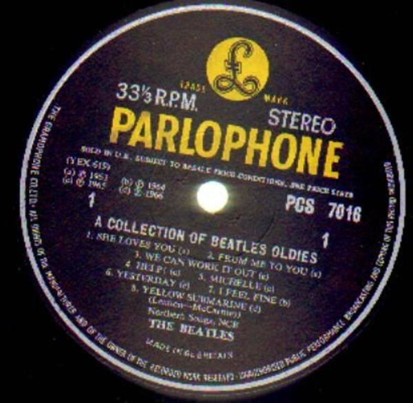 The Beatles A Collection Of Beatles Oldies (UK ORIGINAL)