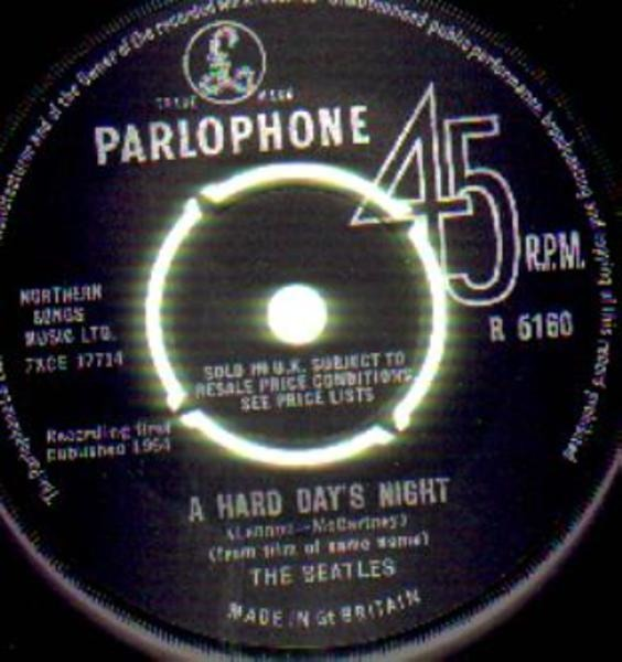 The Beatles A Hard Day's Night / Things We Said Today (UK ORIGINAL KT TAX CODE)