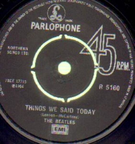 The Beatles A Hard Day's Night / Things We Said Today