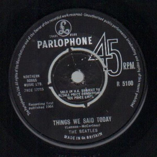 The Beatles A Hard Day's Night / Things We Said Today (ORIGINAL 1ST UK)