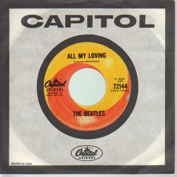 The Beatles All My Loving (COMPANY SLEEVE)